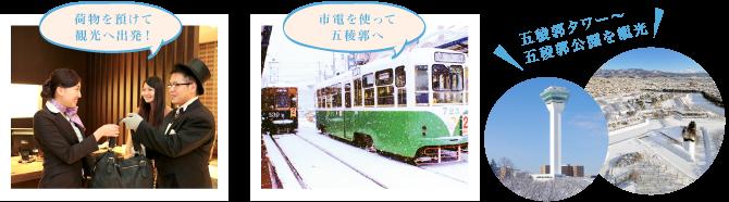 男爵倶楽部到着 〜 五稜郭観光へ