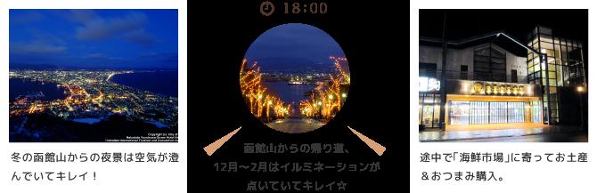 函館山で夜景を楽しんだ後、「海鮮市場」でお買い物