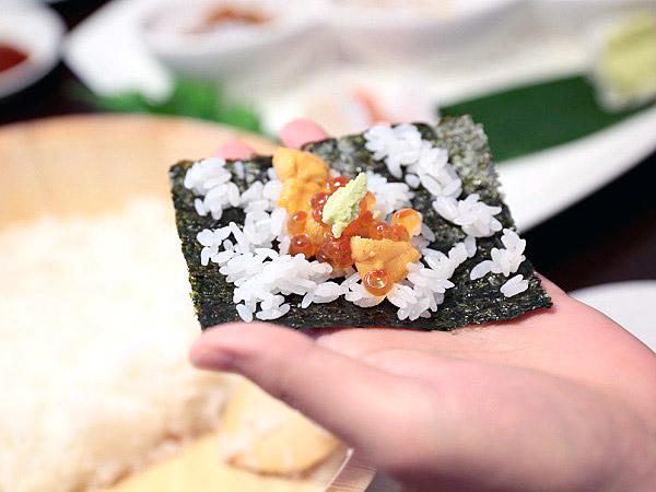 「はこだて鮨金総本店」手巻き寿司