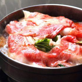 部屋街食「宝来町 阿佐利本店」すき焼き