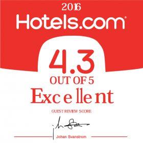 Hotels.comより高評価をいただきました!