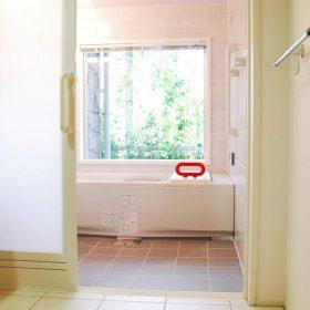 <p>バスルーム内にバスチェア、浴槽にはバスボード・滑り止めマットを設置</p>
