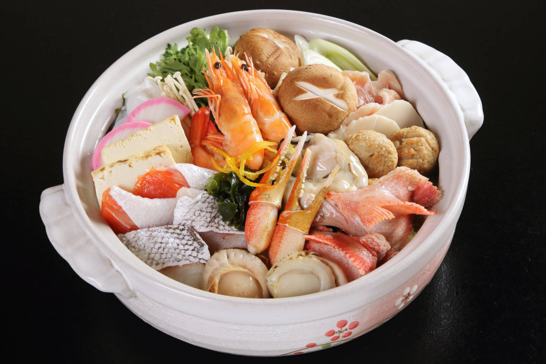 「はこだて鮨金総本店」握り寿司&寄せ鍋 (冬季限定)